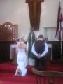 Iesvētības - draudzē tiek ievesti jaunie draudzes locekļi Anita Audriņa un Gatis Kalns