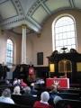 Reformācijas dienas dievkalpojums angļu valodā notika 25. oktobrī kopā ar citām draudzēm, kuras lieto Sv. Annas un Sv. Agneses baznīcu. Apvienotā Londonas latviešu un Miera draudze ir viena no draudzēm, kura notur savus dievkalpojumus šajā baznīcā. Svētrunu teic prāvests Dr. Andris Abakuks.