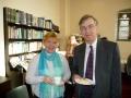 Salaspils draudzes priekšniece Andra Ozoliņa atbraukusi ciemos pie māsas Svonzijā; kopā ar prāv. Andri Abakuku