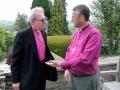 Archibīskaps Elmārs Ernsts Rozītis tiekas ar John Davies, Bishop of Swansea and Brecon
