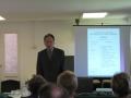 Prof. emer. Reinhards Vītols sēdes atklāšanā