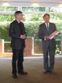 Prāv. Dr. Andris Abakuks un Prof. emer. Dr. Reinhards Vītols
