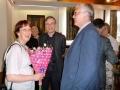 Daira Vāvere, prāv. Dr. Andris Abakuks un DVF valdes priekšsēdis Uldis Reveliņš