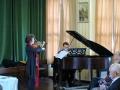 Vijole - māc. Dr. Ilze Ķezbere-Härle, klavieres - Reinis Zariņš