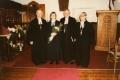 No kreisās prāv. Ringolds Mužiks, māc. Ilze Kuplēna-Ewart, māc. Juris Jurģis, māc. Aldonis Putce (1984.g.)