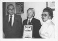 No kreisās: Pēteris Pluģis, Laimonis Krieviņš un Hilda Pluģis (L. Krieviņa māsa)