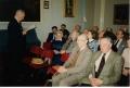 Pirmā Apvienotās Londonas latviešu ev. lut. un Miera draudzes sapulce 1994. gada martā.
