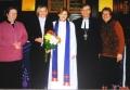 Lindas Nimrodas iesvētības. No kreisās: māc. Jāna Jēruma-Grīnberga, Linda Nimroda, māc. Elīza Zikmane, prāv. Dr. Andria Abakuks un draudzes priekšniece Rūta Abakuka