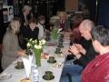Pēc dievkalpojuma sadraudzības kafijas galds 2006. gada jūnijā