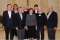 LELBĀL virsvaldes prezidijs jaunajā sastāvā.  No kreisās pirmajā rindā: laicīgais viceprezidents Pēteris Vīgants (Vācijas apgabala laju pārstāvis), garīgais viceprezidents prāv. Gunārs Lazdiņš (Latvijas Evaņģēliski Luteriskās Baznīcas Amerikā, LELBA pārvaldes priekšnieks), prezidente archib. Lauma Zušēvica, Austrālijas pārstāvis prāv. Dr. Jānis Priedkalns (Austrālijas Latviešu Evaņģēliski Luterisko Draudžu Apvienības pārvaldes priekšnieks), kasieris Ivars Petrovskis (LELBA); otrajā rindā: LELBA laicīgā pārstāve Baiba Liepiņa, Eiropas pārstāve prāv. Ieva Graufelde (Zviedrijas apgabala prāveste), sekretāre Daira Vāvere (Lielbritānijas apgabala laicīgā pārstāve)